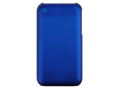 Rubberized Snap On Faceplate Case for Apple iPhone (Blue)