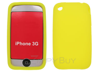 Apple iPhone 3G Silicone Skin Cover Case - Yellow