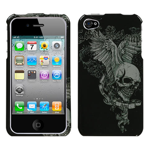 Skull Wings Hard Case for Apple iPhone 4