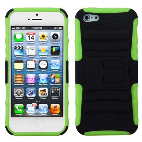 Green Hybrid Armor Case for Apple iPhone 5