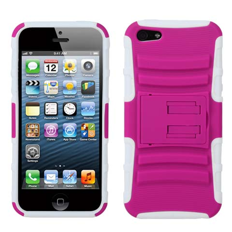 Pink Hybrid Armor Case for Apple iPhone 5