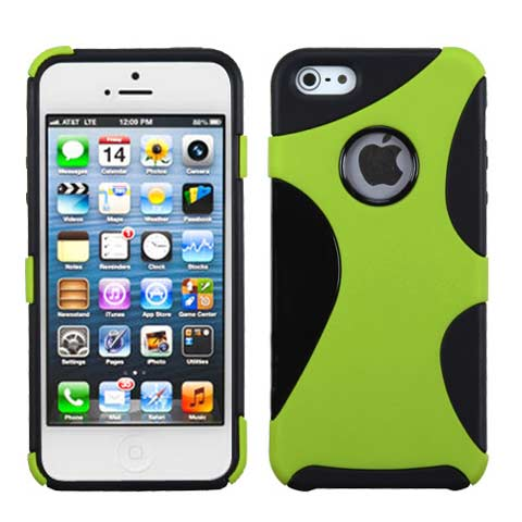 Green Hybrid Climber Case for Apple iPhone 5