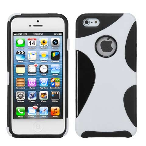 White Hybrid Climber Case for Apple iPhone 5