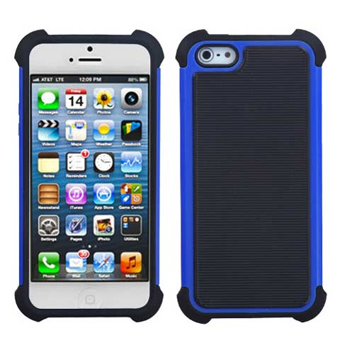 Blue Hybrid Total Defense Case for Apple iPhone 5