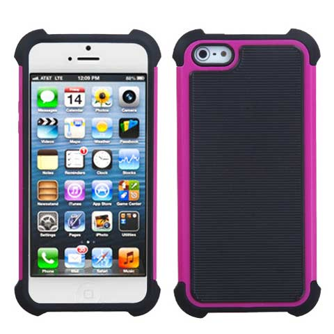 Pink Hybrid Total Defense Case for Apple iPhone 5