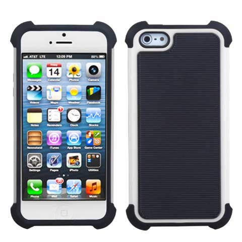 White Hybrid Total Defense Case for Apple iPhone 5