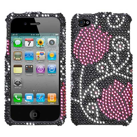 Tulip Crystal Rhinestones Bling Case for Apple iPhone 4S