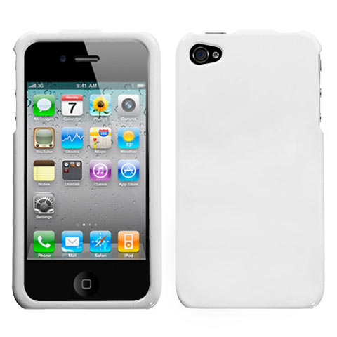 White Hard Case for Apple iPhone 4S