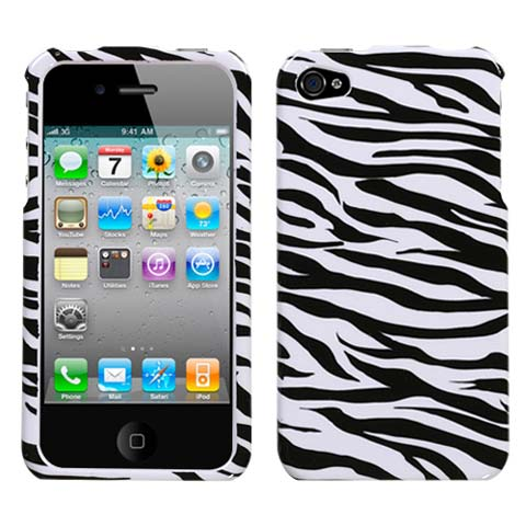 Zebra Hard Case for Apple iPhone 4S