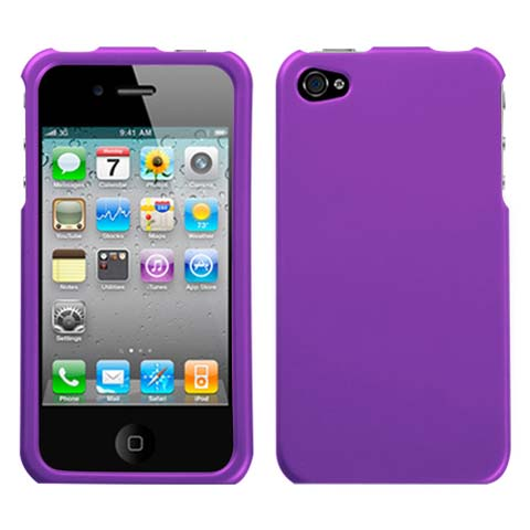 Purple Rubberized Hard Case for Apple iPhone 4S
