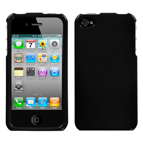 Black Hard Case for Apple iPhone 4S