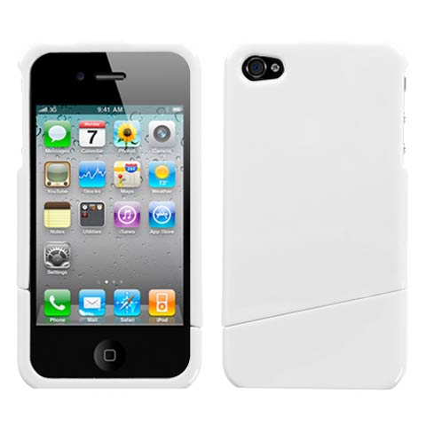 White Slash Hard Case for Apple iPhone 4S