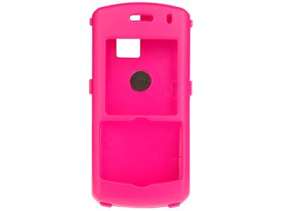 Blackberry Pearl 8100  Rubberized Snap On Faceplate Case (Hot Pink)