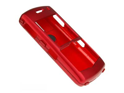 Blackberry Pearl 8100  Rubberized Snap On Faceplate Case (Red)