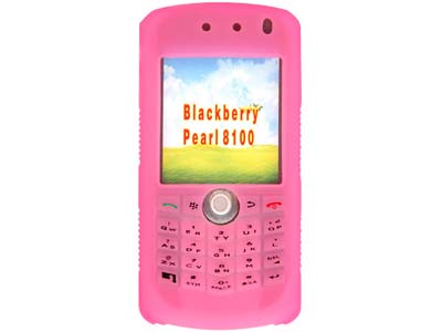 Blackberry Pearl 8100  Silicone Skin Case (Hot Pink)