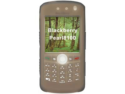 Blackberry Pearl 8100  Silicone Skin Case (Smoke)