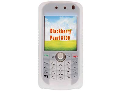 Blackberry Pearl 8100  Silicone Skin Case (Frost White)
