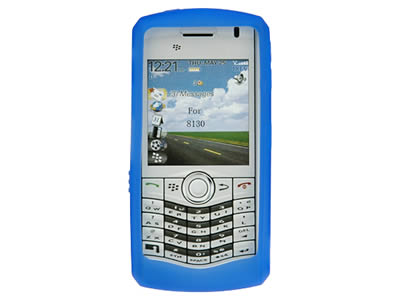 Blackberry Pearl 8110 / 8120 Silicone Skin Cover Case - Blue