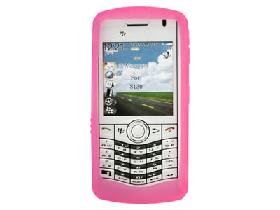 Blackberry Pearl 8110 / 8120 Silicone Skin Cover Case - Hot Pink