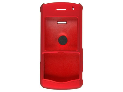 Blackberry Pearl 8110 / 8120 Rubberized Hard Cover Case - Red