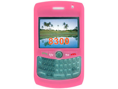 Blackberry Curve 8330 Silicone Skin Cover Case - Hot Pink