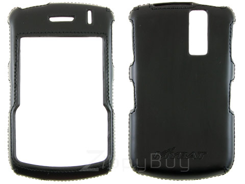 Blackberry Curve 8330 Faux Leather Hard Cover Case - Black