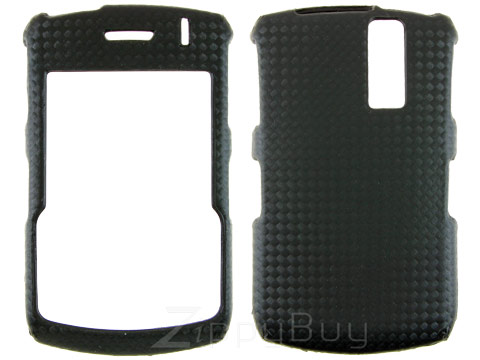 Blackberry Curve 8330 Faux Leather Hard Cover Case - Black Weave