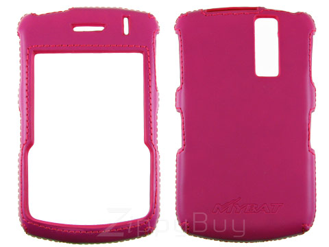 Blackberry Curve 8330 Faux Leather Hard Cover Case - Hot Pink