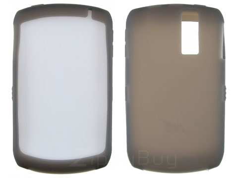 Blackberry Curve 8310  Silicone Skin Case (Smoke)