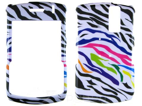 Blackberry Curve 8330 Hard Cover Case - Rainbow Zebra