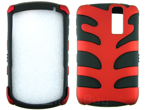 Blackberry Curve 8330 Hybrid Fishbone Skin and Hard Case - Red