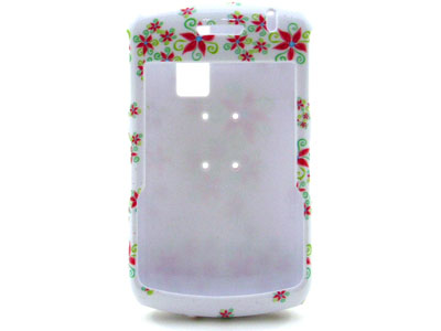 Blackberry Curve 8330 Snap On Faceplate Case (Funky Flowers)