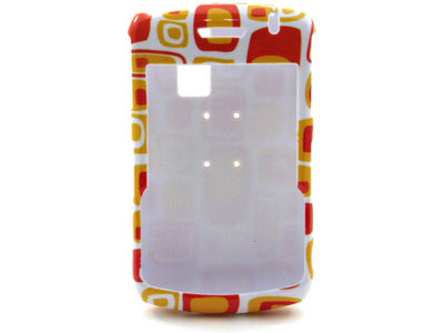 Blackberry Curve 8330 Snap On Faceplate Case (Orange Cubes)