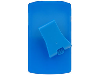 Silicone Case w/ Clip for Blackberry 8820 (Blue)