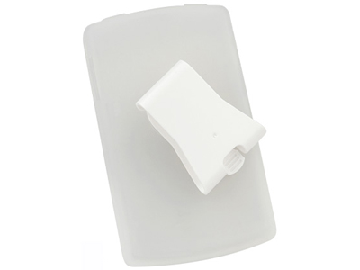 Silicone Case w/ Clip for Blackberry 8820 (Frost White)