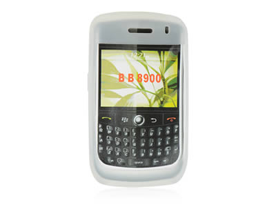 Blackberry Curve 8900 Silicone Skin Cover Case - Frost White