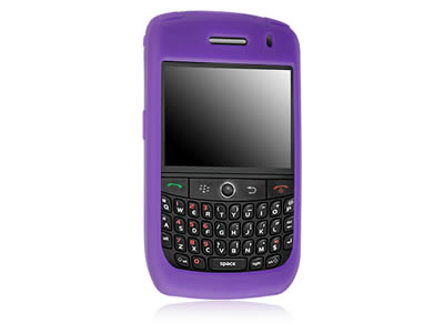 Blackberry Curve 8900 Silicone Skin Cover Case - Purple