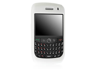 Blackberry Curve 8900 Silicone Skin Cover Case - White