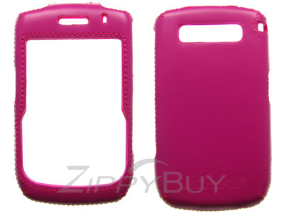 Blackberry Curve 8900 Faux Leather Hard Cover Case - Hot Pink