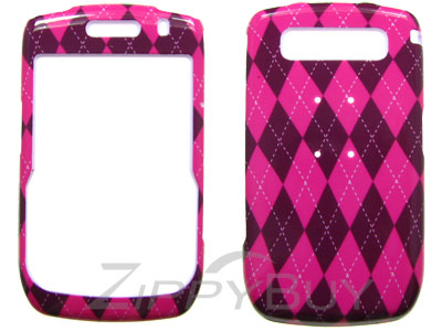 Blackberry Curve 8900 Hard Cover Case - Pink Argyle