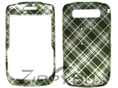 Blackberry Curve 8900 Hard Cover Case - Green Plaid