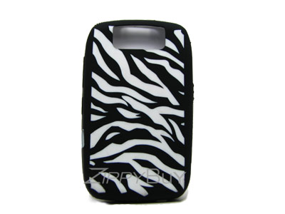 Blackberry Curve 8900 Silicone Skin Cover Case - Zebra