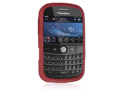 Blackberry Bold 9000 Silicone Skin Cover Case - Burgundy