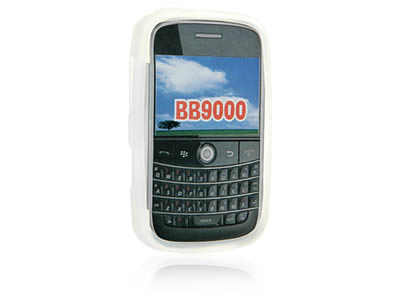 Blackberry Bold 9000 Silicone Skin Cover Case - Frost White