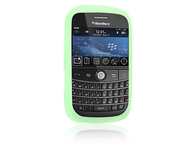 Blackberry Bold 9000 Silicone Skin Cover Case - Green