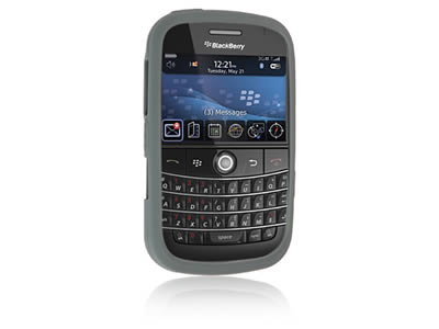 Blackberry Bold 9000 Silicone Skin Cover Case - Grey
