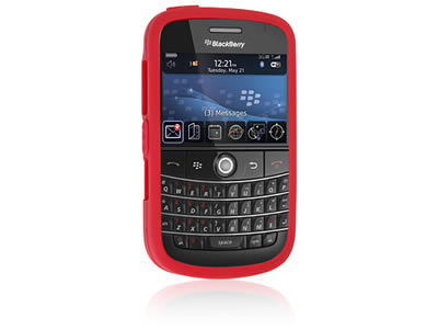Blackberry Bold 9000 Silicone Skin Cover Case - Red