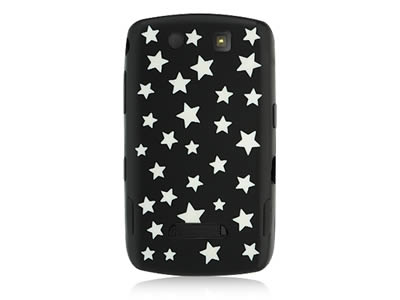 Blackberry Storm 9530 Silicone Skin Cover Case - Black with Stars