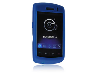 Blackberry Storm 9530 Silicone Skin Cover Case - Blue