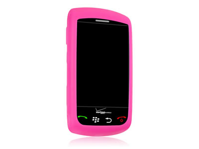 Blackberry Storm 9530 Silicone Skin Cover Case - Hot Pink